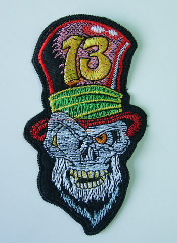 PC94 Brad Skull Skeleton Embroidery Patch Applique Iron On