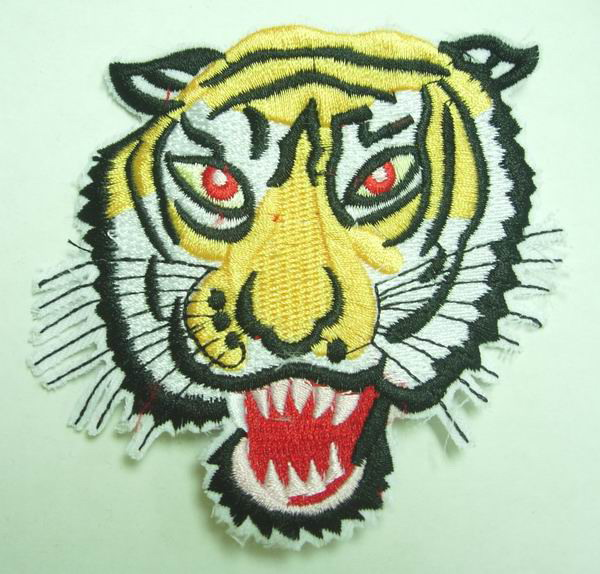 PM01Tiger Face Embroidery Patch Applique Iron On