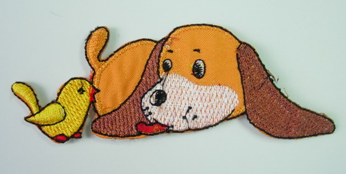 PM05 Puppy & Bird Embroidery Patch Applique Iron On