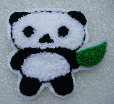 PM14 Panda Furry Patch Applique Sew On Dress/Craft
