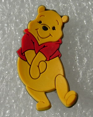 RB15 Miniature Disney Winnie the Pooh PVC Rubber Patch Cute/Kid