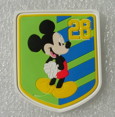 RB17 Disney Mickey-28 Cartoon PVC Rubber Patch Badge