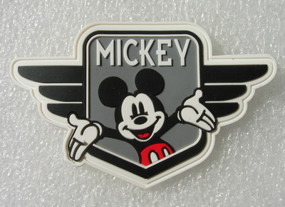 RB18 Disney Mickey Mouse Pilot Cartoon PVC Rubber Patch Badge