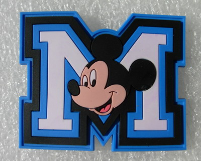 RB19 Disney Mickey Mouse M Cartoon PVC Rubber Patch Badge