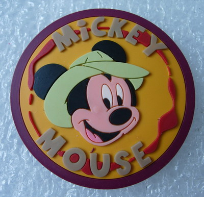 RB21 Disney Mickey Mouse PVC Rubber Collectible Patch Badge