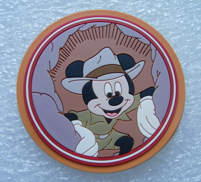 RB22 Cowboy Mickey Mouse PVC Rubber Collectible Patch Badge