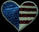 Patriotic Sequin Applique USA