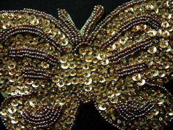 butterfly sequin bead applique