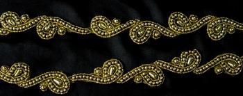 bead applique motif banding trimming lace