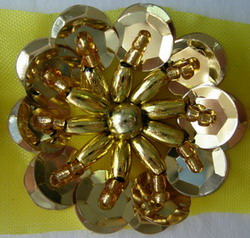sequin flower applique