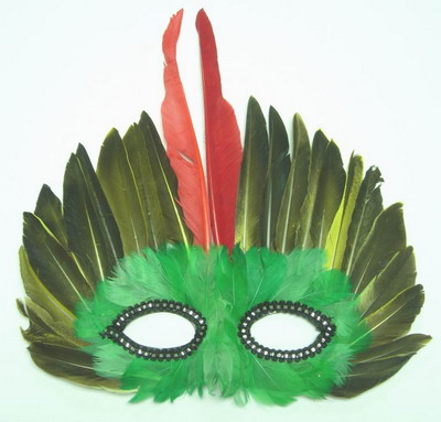 MS01 Multicolor Feather Mask Holiday Party Mask