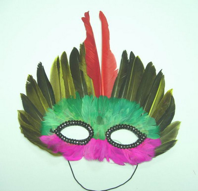 MS02 Multicolor Feather Mask Party Mask