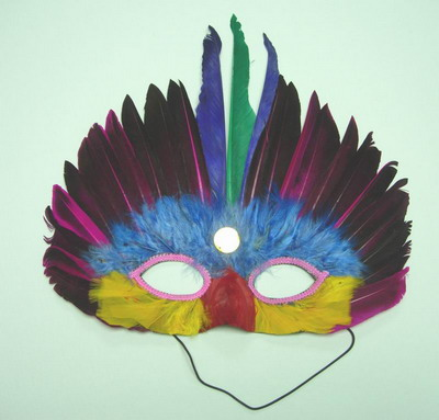 MS05 Multicolor Feather Mask Festival Party Mask