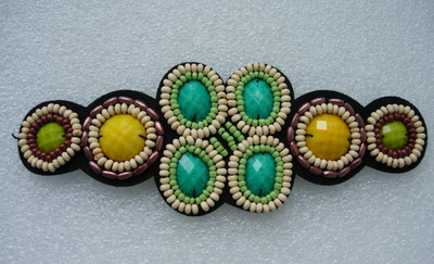 SB214 Colorful Fashion Gemstones Beaded Jewelry Applique