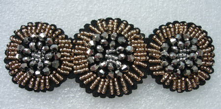 SB215 Rhinestone Beaded Jewelry Applique Hairdress/Shoe Motif
