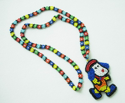 JW01 Beaded Lanyard w/Puppy Dog Pendant Jewelry for Fashion