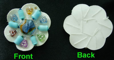 SB10 Colorful Rhinestones Motif Applique Brooch 4pcs