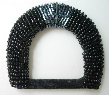 SB116 D-Buckle Grid Jewelry Beaded Buckle Black