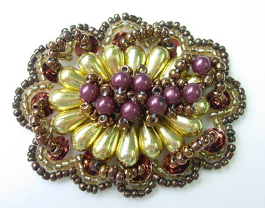 SB119 Vintage Style Beaded Jewelry Applique Motif
