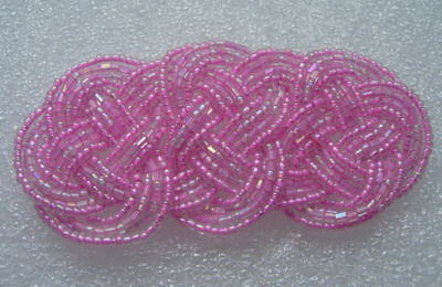 SB167 Wire Beaded Braided Jewelry Motif Pink
