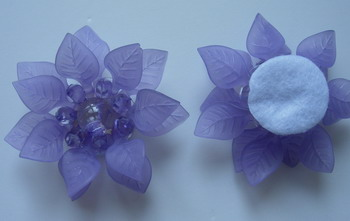 SB191 Acrylic Petals Flower Jewelry Brooch Pin Lavender 4pcs