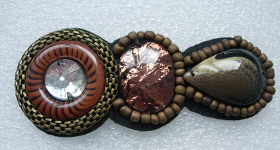 SB195 Vintage Gems Stones Beaded Jewelry Applique Jewel Craft