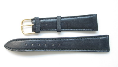 WB01 18mm Watch Bands Genuine Leather Black 10pcs CLEARANCE
