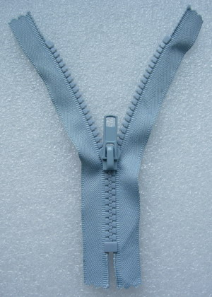 ZP03 13cm Zipper Plastic Light Grey 5pcs