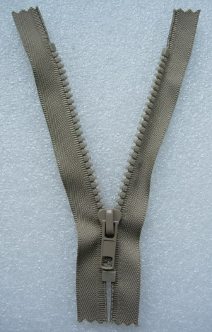 ZP04 13cm Zipper Plastic Light Brown 5pcs