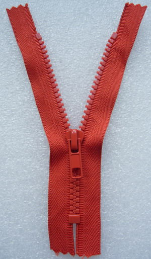 ZP07 13cm Zipper Plastic Dark Orange 5pcs