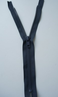 ZP32 25cm Plastic Zipper Dark Grey 5pcs - Click Image to Close