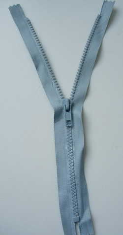ZP36 25cm Plastic Zipper Light Grey 5pcs