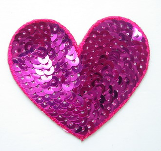 Glitz and Glamour: Pink Sequin Appliques