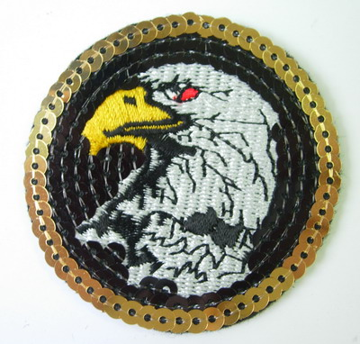 SY81 American Eagle Patch Embroidery Sequin Applique Iron On