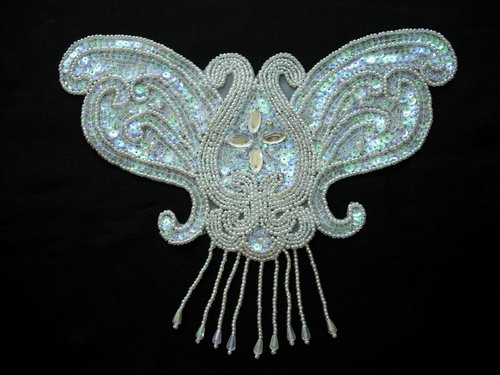 HP34 Butterfly Collar Hipbelt Thong Sequin Bead Applique Fringe