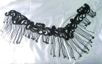 HP01-2 Sequin Bead Applique w/Fringed for Hip Belt Scarf