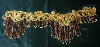 HP01 Sequin Bead Applique w/Fringed for Hip Belt Scarf