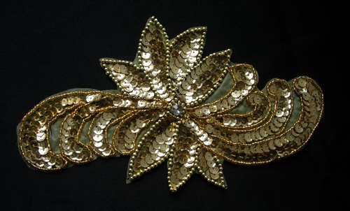 HP02 Gold Sequin Bead Applique for Hip Belt Belly Dance