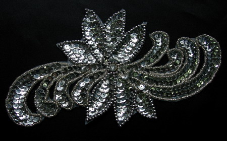 HP03 Silver Sequin Bead Applique for Hip Belt Belly Dance