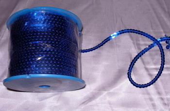 SP04 6mm Royal Blue Sequin Spool String Flat Sequin 100yards