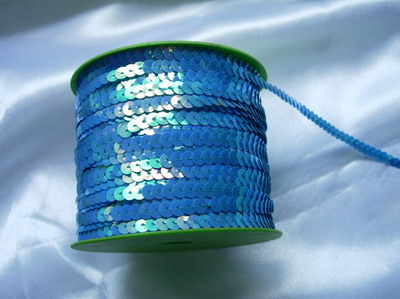 SP14 6mm Blue Iris Sequin Spool String Flat Sequin 100yards