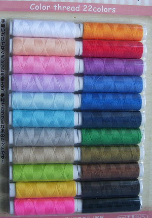 TS09 Polyester Sewing Thread Assortment 22Colors