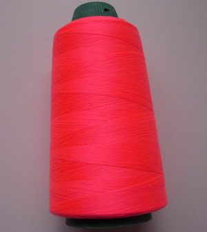 TS18 Neon Coral Pink Polyester Thread Threads 3000yds