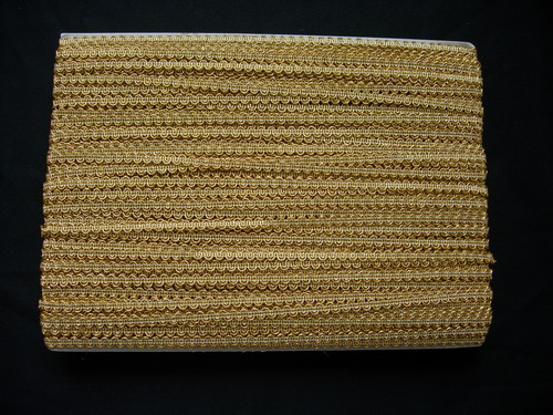 GB80 6mm Metallic Cord Trim Gimp Braid Lace Edge Gold 10y