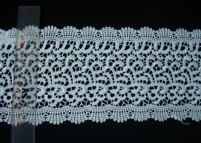 "OT43 4 6/8"" Wide Pretty Venise Venice Lace Lacy Cream 1y"