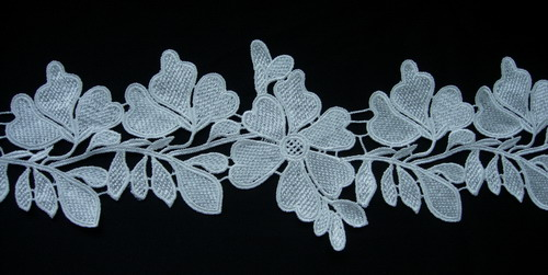 "OT89 5"" Leaves Leaf Venise Venice Lace Edge Cream 1yard"