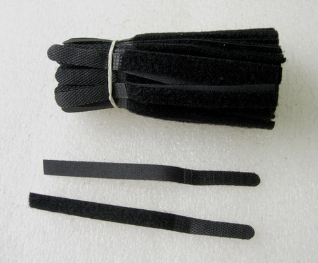 VL12 10x135mm Black Velcro Thin Fastening Tape Strips 100pcs