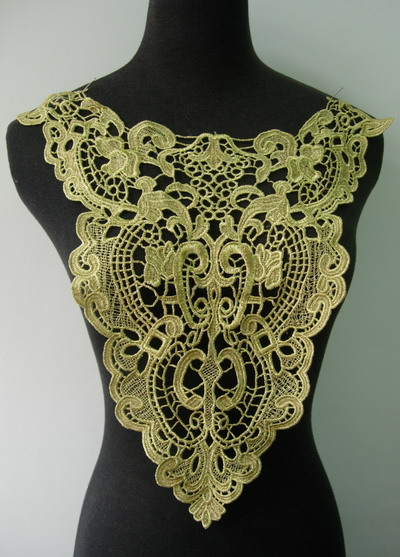 VY116 Victorian Style Gold Metallic Trim Applique Motif