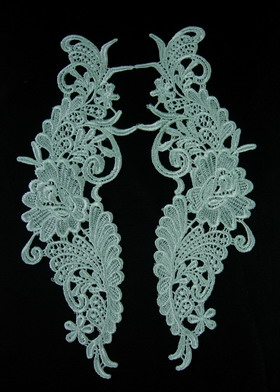 VT100 Mirror Curl Floral Lace Venise Venice Applique Sew On
