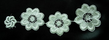 VT25 Chain Flower Venise Venice Applique Swing Craft 2pcs
